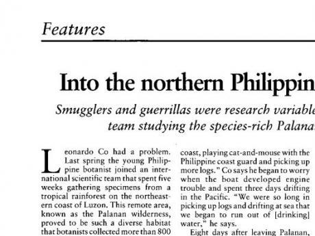 Excerpt of article